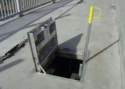 "Vault Access Solutions Safety Up post For assist in ladder confidence. A specified product of choice for; ""Georgia Atlantic Transit Authority"""