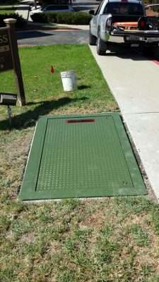 Verizon/Frontier Communications dry utility Vault junction box, Thousand Oaks Ca.