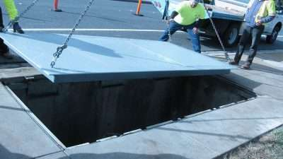 "City of Pittsburg Ca. retrofitting a clear opening of 66""X 150 in the sidewalk at the Curb."