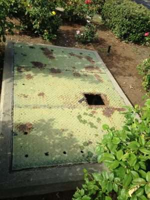 Calabasas California before vault access cover replacement…