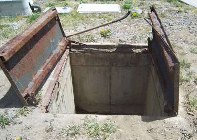 Rancho California before vault access cover replacement…