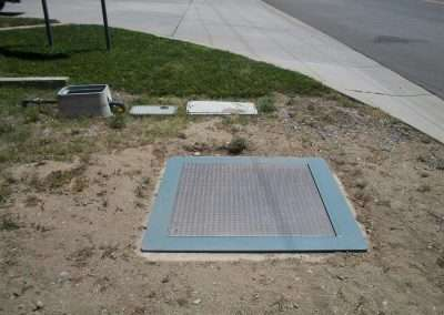 Rancho California less than one hour later with replaced vault access cover.