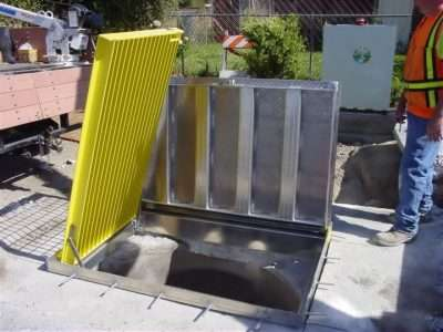 They removed a manhole access & replaced with this Single door 36-inch x 48-inch clear opening aluminum fixture.