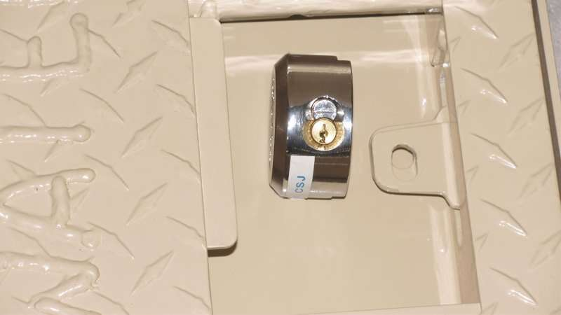"""These Stainless Hasp accept """"Puck"""" style security lock"""