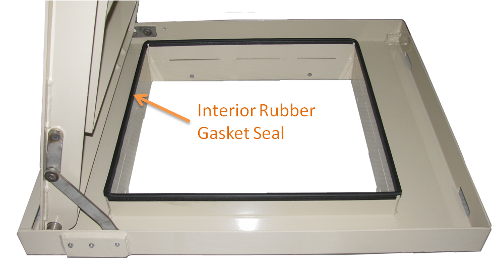 """Our interior rubber gasket seals keep out debris and unwanted moisture."""" title=""""Our interior rubber gasket seals keep out debris and unwanted moisture."""