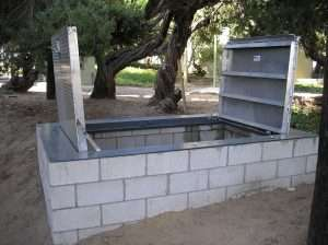 "RAF Below ground vaults. ""Your needed size"" is our standard size… Build what you need and We`ll fabricate to fit."